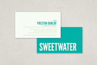 Stylish Contemporary Business Card Template