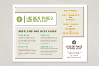 Summer Camp Vintage Flyer Template