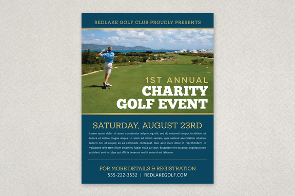 Charity Golf Event Flyer Template  Inkd