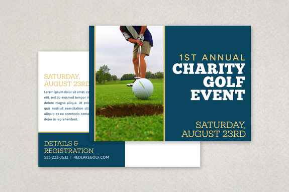 Charity Golf Event Postcard Template Inkd - Postcard advertising template