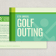 Modern Golf Postcard Template