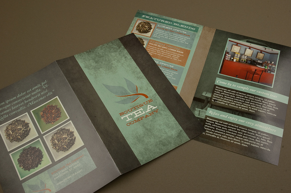 Tea Shop Brochure Template