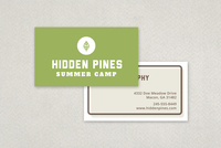 Summer Camp Business Card Template