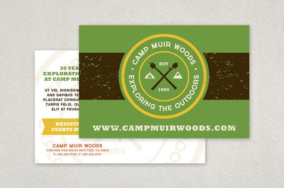 summer camp hipster postcard template inkd