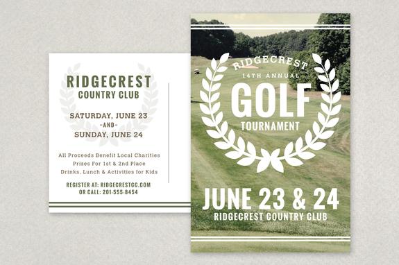 Golf Tournament Logo Golf Tournament Vintage