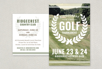 Golf Tournament Vintage Postcard Template