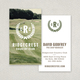 Golf Tournament Business Card Template