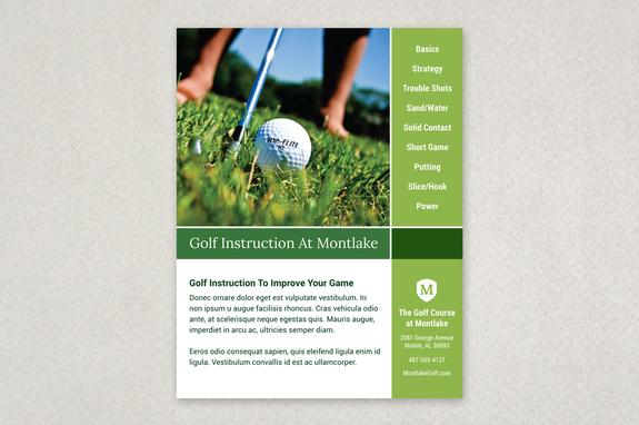 Golf Instruction Grid Flyer Template Inkd - Golf brochure template