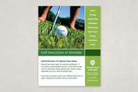 Golf Instruction Grid Flyer Template