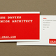 Red Minimalist Architecture Business Card Template