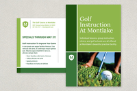Golf Instruction Grid Postcard Template