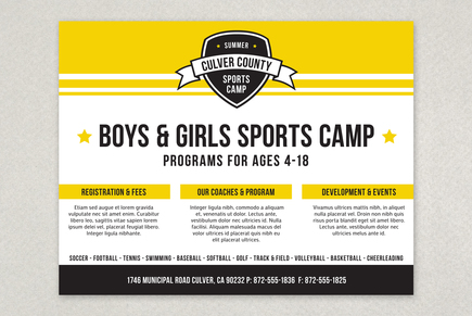 energetic sports camp flyer template medium_sports_camp_energetic_flyer_template_1