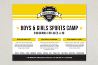 Energetic Sports Camp Flyer Template
