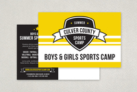 Energetic Sports Camp Postcard Template