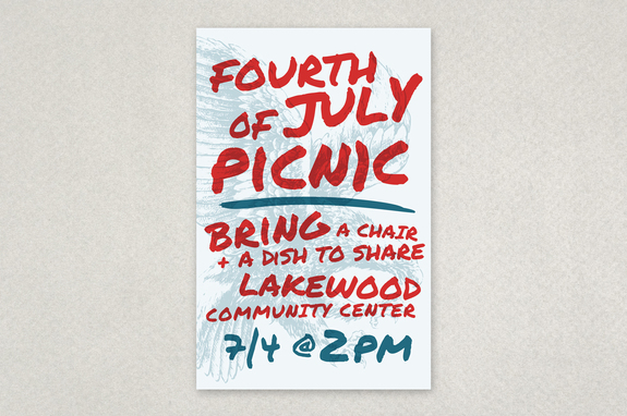 Summer Picnic Handwriting Flyer Template  Inkd