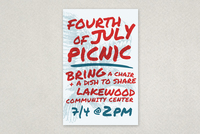 Summer Picnic Handwriting Flyer Template