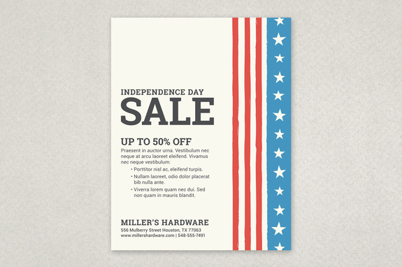 patriotic striped sale flyer template inkd