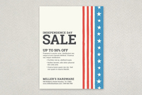 Patriotic Striped Sale Flyer Template