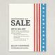 Patriotic Striped Sale Flyer Template