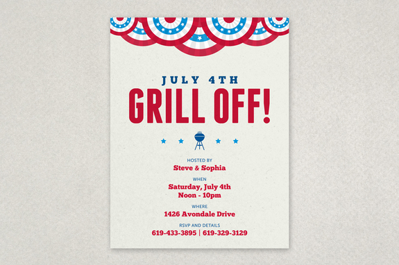Summer Bbq Picnic Flyer Template  Inkd