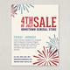 Fireworks Celebration Sale Flyer Template