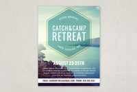 Outdoor Retreat Flyer Template