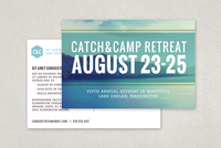 Outdoor Retreat Postcard Template