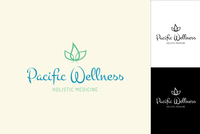 Illustrated Wellness Logo Design Template