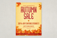 Autumn Leaves Flyer Design Template