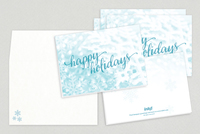 Happy Holidays Script Greeting Card Template