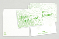 Merry Christmas Holiday Greeting Card Template