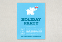 White Elephant Party Flyer Template