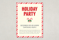 Candy Cane Party Flyer Template