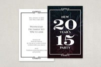 Elegant New Years Postcard Template