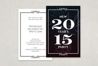 Elegant New Years Postcard Template