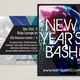 Club New Years Postcard Template