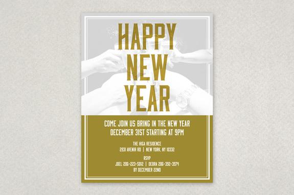 Friends New Years Flyer Template | Inkd