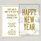 Friends New Years Postcard Template