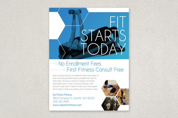 Modern Fitness Flyer Template  Inkd