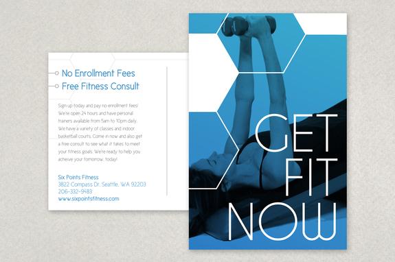 Modern Fitness Postcard Template | Inkd