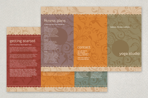 Yoga Studio Brochure Template  Inkd