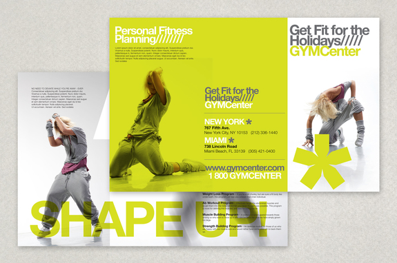 Contemporary Fitness Club Brochure Template – Gym Brochure Templates