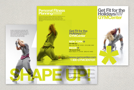 Contemporary Fitness Club Brochure Template – Fitness Brochure Template