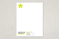 Contemporary Fitness Club Letterhead Template