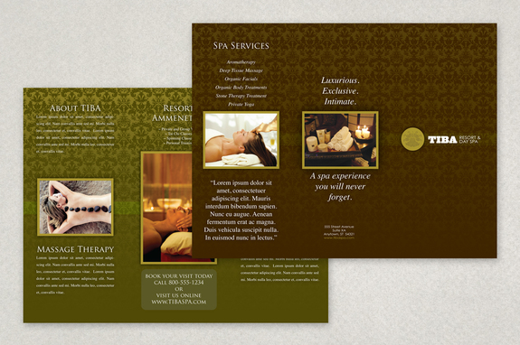 Exclusive Spa Brochure Template  Inkd