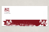 Surf Shop Envelope Template
