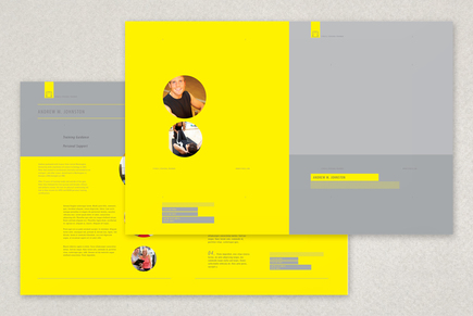 Personal trainer brochure template inkd for Personal brochure templates