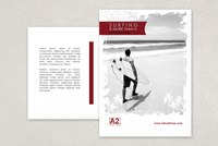Surf Shop Postcard Template