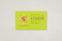 Contemporary Yoga Business Card Template