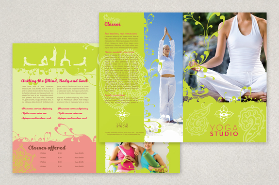 Contemporary Yoga Brochure Template